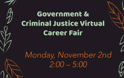 Picture of Virtual Government & Criminal Justice Career Fair - November 2, 2020
